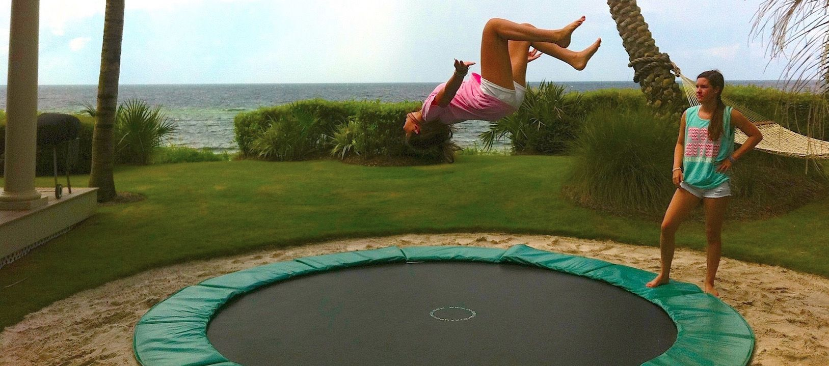 Create An In Ground Trampoline Plan Sand Pit